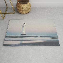 New Brighton Lighthouse at sunrise Rug