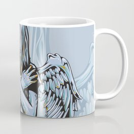 Gothic Girl Memento Mori Angel Girl Earns Her Wings Coffee Mug