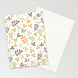 Assorted Leaf Silhouettes Ptn Retro Colors Stationery Cards