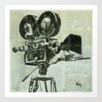 cinema Art Prints featuring Cinema. by Marat Cherny