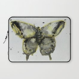 Yellow and Gray Butterfly Laptop Sleeve