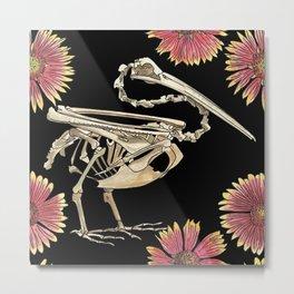 Florida Fall Pelican Skeleton Metal Print