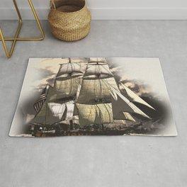 sailing ship vintage Rug