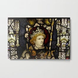 King medieval middle ages knight Metal Print