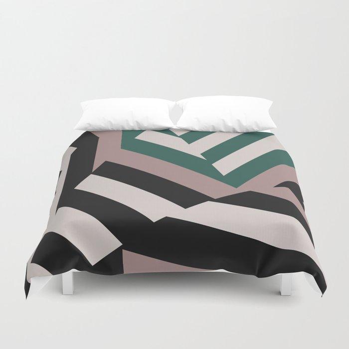 Asdic Sonar Dazzle Camouflage Graphic Design Duvet Cover