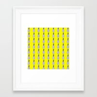 pinapple Framed Art Prints featuring Yellow Pinapple by Robin101