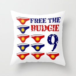 Free The Budgie 9 Throw Pillow