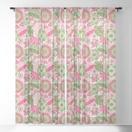 April Showers Bring May Flowers Sheer Curtain