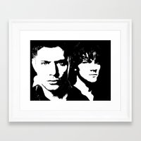 sam winchester Framed Art Prints featuring Winchester by Panda Cool