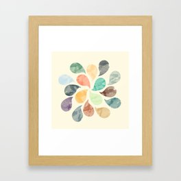 Colorful Water Drops (Watercolor version) Framed Art Print