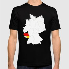 Rhineland Palatinate Flag Germany Rheinland Pfalz Gift design T-shirt