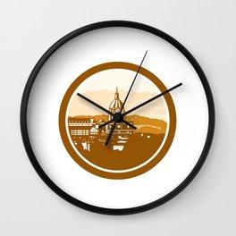 Gold Chapel Dome of Les Invalides Paris France Woodcut Wall Clock