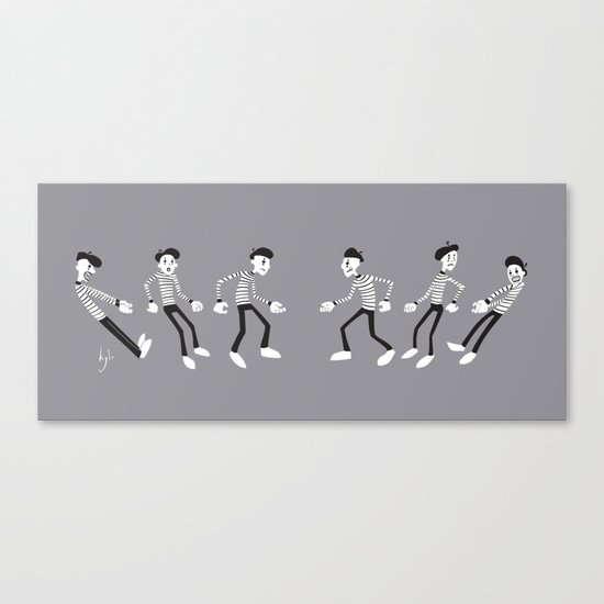 Mime VS Mime: Tug Of War Canvas Print