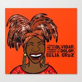 La Reina Celia Cruz Canvas Print