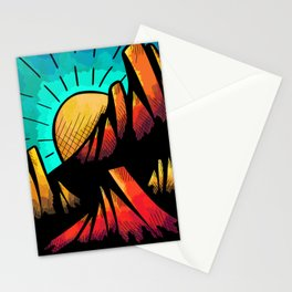 Sun hot mountains Stationery Cards