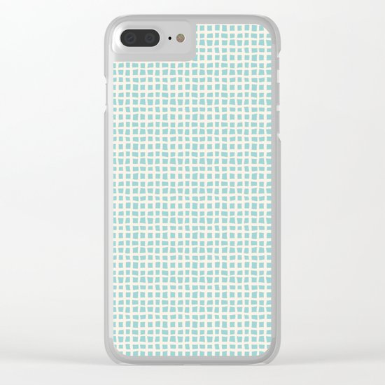 Blue Scribbles Pattern 02 Clear iPhone Case