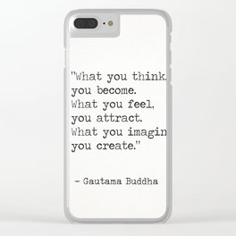Buddha quote 5 Clear iPhone Case