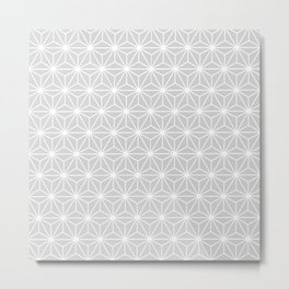 Muted Silver Isosceles Triangle Pattern Metal Print