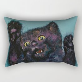 Ninja Kitten Rectangular Pillow
