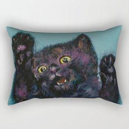 Ninja Kitten Rectangular Pillow