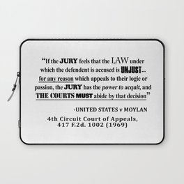 Jury Nullificaton Case Law Quote Laptop Sleeve