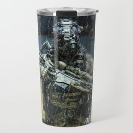 Night time Sniper Hunting Travel Mug