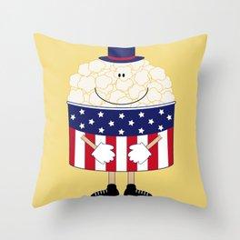Mr.Popcorn Throw Pillow