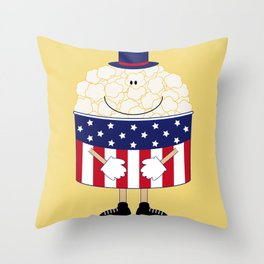 Mr.Popcorn Throw Pillow