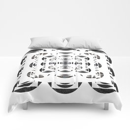 Optical Black and White Peace Mandala Comforters