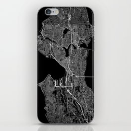 Seattle Black Map iPhone Skin