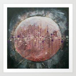 Pink Moonrise Art Print