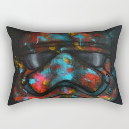 StarWars Stormtrooper Abstract Splash Painting Rectangular Pillow