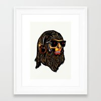 teen wolf Framed Art Prints featuring Teen Wolf by Vasco Vicente