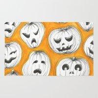 pumpkin Area & Throw Rugs featuring Pumpkin by Saoirse Mc Dermott