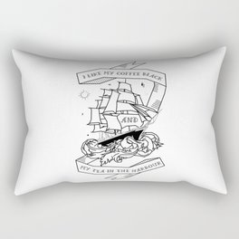 I like my coffee black and my tea in the harbour Rectangular Pillow