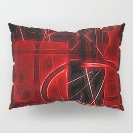 Red Maze Pillow Sham
