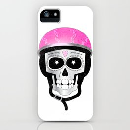 Day of the Dead Biker Skull iPhone Case