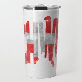 Schweiz / Switzerland Typographic Flag / Map Art Travel Mug