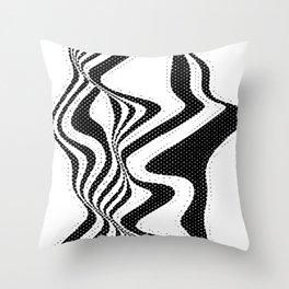 Funky Stripes Throw Pillow