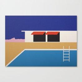 Palm Springs Pool House II Canvas Print