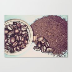 Coffee Beans and Coffee Ground Canvas Print