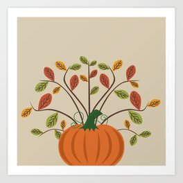 Fall Pumpkin Art Print