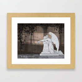 Weeping Angel Framed Art Print