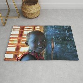 Happy Young Maasai Child 4269 Rug