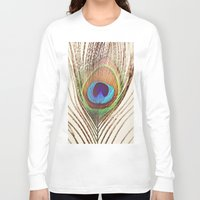 peacock Long Sleeve T-shirts featuring Peacock by Laura Ruth