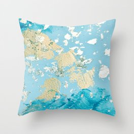Gold Abstract Modern Painting Throw Pillow