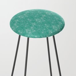 Floral Freeze Mint Counter Stool
