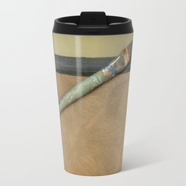Artist Brush On Abstract Copper Canvas Artwork - Vintage - Modern Art - Painter Travel Mug