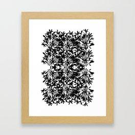 Alium Blue Framed Art Print