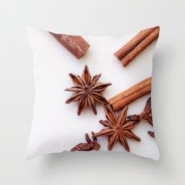 Cinnamon & Start Anise Throw Pillow